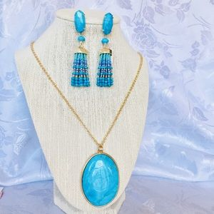 Kendra Scott Turquoise Dove Earrings and Necklace